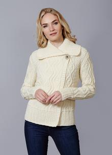 a48716f6a2 Fiona One Button Aran Cardigan Fiona One Button Aran Cardigan