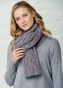 Fisherman Cable Rib Scarf
