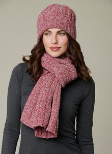 Fisherman Donegal Fleck Beanie & Scarf Set - Rock Candy