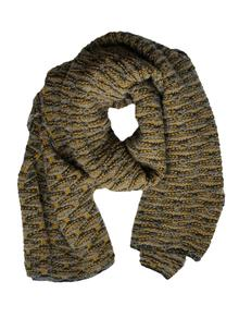 Fisherman Shell Stitch Oversized Scarf Honey