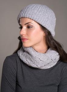 Fisherman Ribbed Beanie Pearl Grey