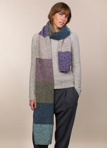 Fisherman Donegal Fleck Color Block Scarf