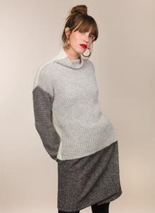 Fisherman Waffle Stitch Reversible Sweater
