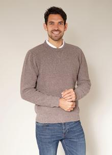 Fisherman Seed Stitch Crew Neck Sweater