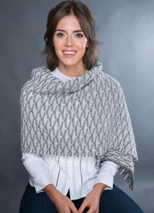 Fisherman Shell Stitch Oversized Scarf Oatmeal
