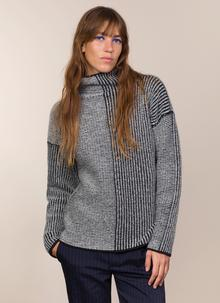 Fisherman Wool Cashmere Funnel Neck Sweater