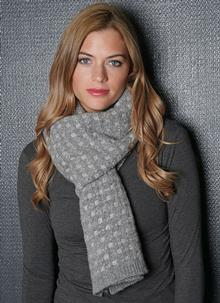 Fisherman Scarf Float Stitch Gray