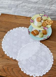 Blarney Floral Embroidered Doily Collection