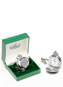 Engraved Celtic Trinity Pocket Watch
