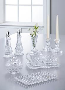 Galway Crystal Ashford Sugar, Cream & Tray Set