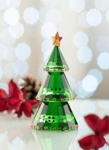 Galway Crystal Green Christmas Tree