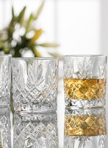 Galway Crystal Renmore Double Old Fashioned Tumblers Set of 4