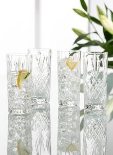 Galway Crystal Renmore Hi Ball Glasses Set of 4