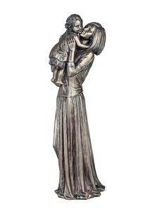 Bronze Mother & Child Figurine