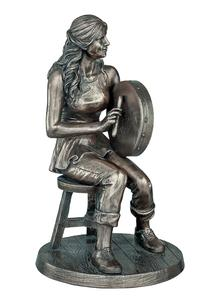 Female Bodhran Player Statue