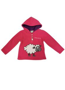 Girls Hooded Sheep Fleece