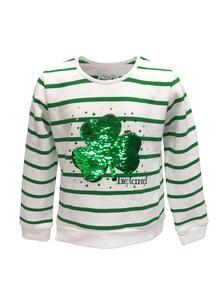 Girls Reversible Sequins Shamrock Sweatshirt