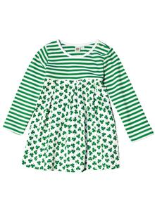 Girls Striped Shamrock Dress