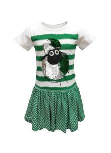 Girls Reversible Sequin Sheep Dress