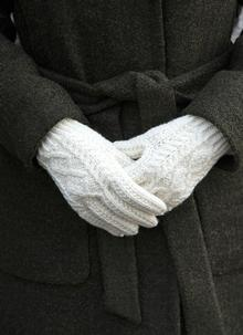 Hand-Knit Aran Gloves