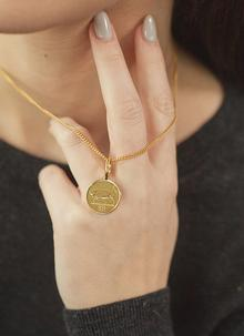 Gold Plated 5p Coin Pendant