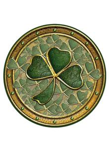 Golden Shamrock Coasters Set of 4