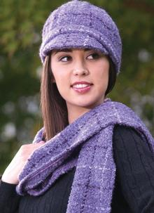 Newsboy Hat Violet Check