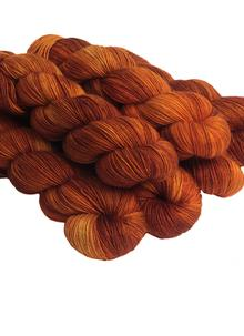 Hand-Dyed Sock Yarn Rusty Nail