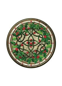 Holly Wreath Placemats Set of 4