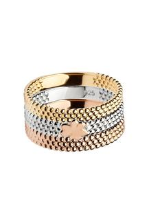 Tri Color Stacking Ring