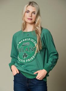 28e40a31474 Ireland Celtic Pride Boyfriend Sweater Ireland Celtic Pride Boyfriend  Sweater