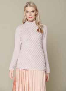 Wool Cashmere Trellis Sweater