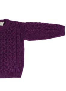 Kids Aran Crew Neck Sweater