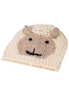 Kids Hand-Knit Sheep Hat