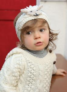 Kids Hand-Knit Sheep Headband