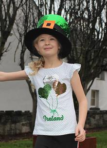 Kids Ireland Sequin Balloon T-Shirt