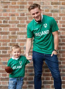 Kids Ireland Shamrock Rugby Shirt