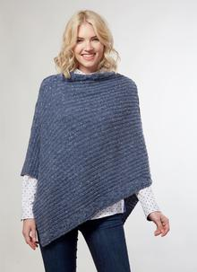 Kilcar Ribbed Cable Poncho