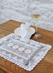 Lace Placemats 12'' x 16'' Set of 4