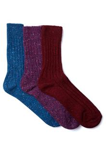 Set of 3 Ladies Kerry Walking Socks