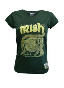 Ladies Book of Kells Green T-Shirt