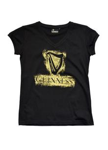 Ladies Guinness Harp V-Neck T-Shirt