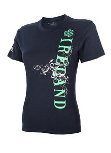 Ladies Ireland Side Print T-Shirt Navy