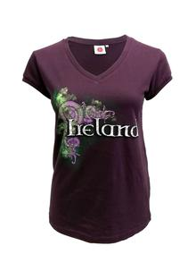 Ladies Celtic Ireland V-Neck T-Shirt