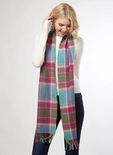 Lambswool Scarf Multi Check