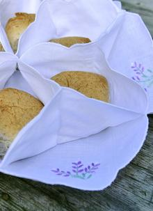 Lavender Embroidered Bread Roll Holder