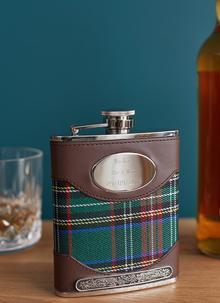 personalized tartan hip flask