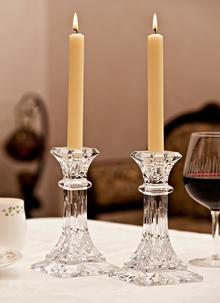 Waterford Crystal Lismore 8'' Candlestick Pair