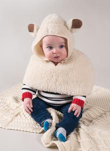 Little Lamb Wool Baby Cape