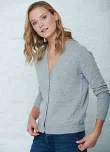 100% Cashmere Button Cardigan
